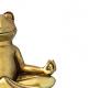 Frog meditating in lotus pose